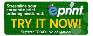 ePrint B2B Web to print online ordering. Try our Demo!