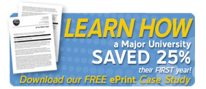 Learn How a major university saved 25% with their ePrint web-to-print digital storefront