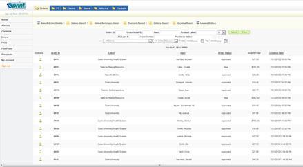 ePrint Order Tracking Screen