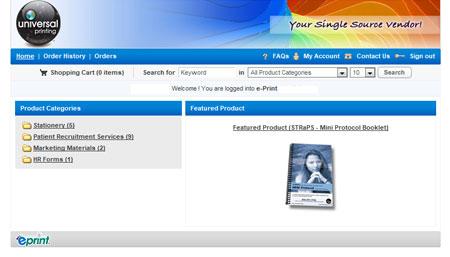 ePrint Welcome Screen